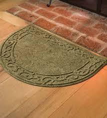 low profile microfiber half round rug moss paisley