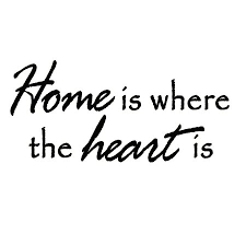 VWAQ Home Is Where The Heart Is Quote Wall Decals Vinyl Wall Art Interesting Home Is Where The Heart Is Quote