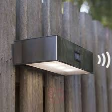 Solar Powered Outdoor Lights Uk Solar Powered Brick Led Sensor Outdoor Wall Light Lights Co Uk