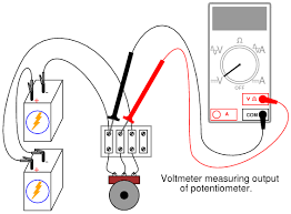 lessons in electric circuits volume vi experiments chapter 3 divide the potentiometer s measured output voltage by the measured total voltage the quotient should be 1 3 the same voltage division ratio as was set