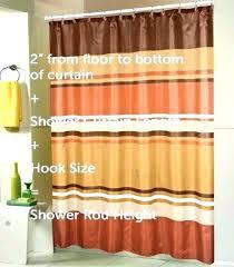 shower stall curtain size post length sizes floor standard de curtain lengths for windows unique standard