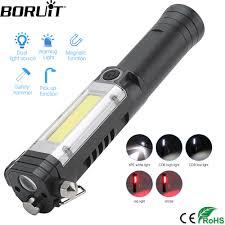 Mr Light Torch Repair Boruit Xpe Cob Led Flashlight 5 Mode Work Light With Magnet