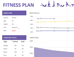 Fitness plan - Office Templates