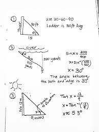 trigonometry word problems worksheets with answers trigonometry ...