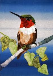 LITTLE ANNA HUMMINGBIRD: Art Quilt, Bird Art, Gift, Textile Art ... & LITTLE ANNA HUMMINGBIRD: Art Quilt, Bird Art, Gift, Textile Art, Home  Decor, Wall Decor, Wall Hanging 6