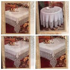 better home crochet vinyl lace tablecloth white ivory clear new