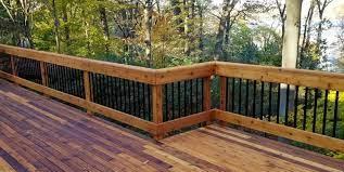 wood deck railing ideas