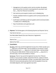 Free Wedding Planner Contract Templates Wedding Planner Contract Free Sample Docsketch