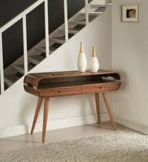View Larger Gallery Signa, Console Table In A Retro Style, Walnut Veneer  Finish Trendy Products