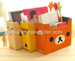 Magazine Holder Cardboard magazine Holder Storage Box Files DIY CardBoard Books Organizer A100 62