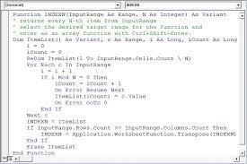 Return Every N Th Item Using Vba In Microsoft Excel
