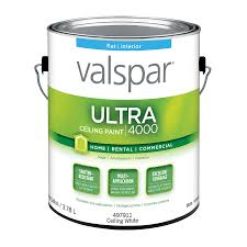 Valspar Ultra 4000 Ceiling White Flat Latex Interior Paint (Actual Net  Contents: 128-