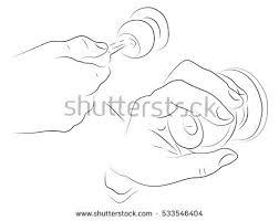 open door pencil drawing. Hands Open The Door, Black And White Pencil Drawing Door