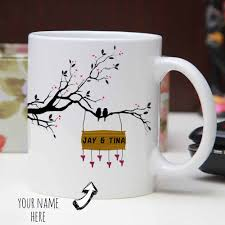 personalized mug with first letter of name