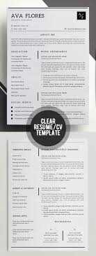 Modern Resume Contact Information Modern Resume Template Professional Resume Template Modern Cv