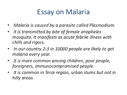 introduction to epidemiology essay on malaria