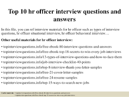 Top 10 Hr Officer Interview Questions And Answers