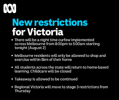 Victoria today is at a very different stage to new zealand a few months ago. Facebook