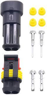 Kaifa 10 Sets Kit 2 Pin Way Super Seal Waterproof ... - Amazon.com