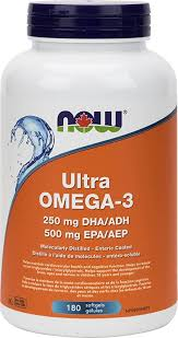 NOW <b>Ultra Omega</b>-<b>3</b> (500 EPA/250DHA) Softgels, 1000mg, <b>180</b> Count