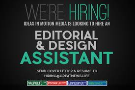 Editorial Design Ideas Ideas In Motion Media Hiring Editorial Design Assistant