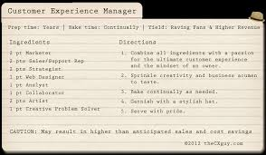 customer experience manager recipe for success business pinterest customer experience and