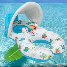 IPRee Inflatable Mother Baby Swimming Ring Swim Pool Water Seat