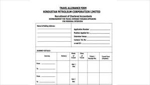 Free 8 Sample Travel Allowance Forms In Pdf Word