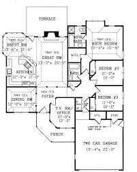 ranch house floor plans. House Plan Tucson Contemporary Ranch Home 016D 0044 Floor Plans