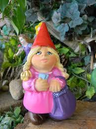 female garden gnome. Delighful Female Female Garden Gnomes  Gnome Lady Woman Traveling By  EnchantdMushroomLand To A