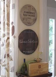 Price authentic wine barrel head wall sign rustic hand cut recycled steel overlay bring the feeling of the vineyard to your home with your with this impressive, rustic barrel sign. Wine Barrel Wall Decor Knockoffdecor Com