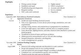 Industrial Journeyman Electrician Resume Experience Resumes