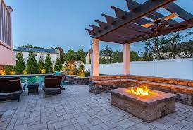 Pergola With Fire Pit Backyard Designs Designing Idea