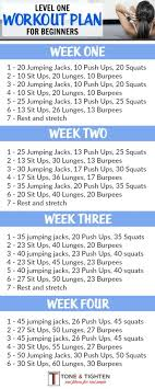 one month workout plan for beginners follow the link for descriptions of exercises