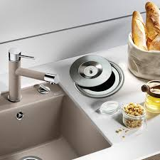 usd 49 76 promotional embedded kitchen counter trash stainless regarding countertop can inspirations