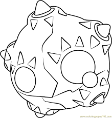 Small Picture Minior Pokemon Sun and Moon Coloring Page Free Pokmon Sun and
