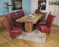 dining room red leather dining chairs with rustic wooden red wood dining chairs