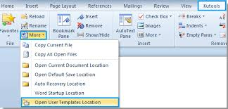 Templates In Word 2007 How To Open User Template Location In Word