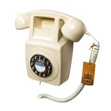 ivory retro wall phone telephone