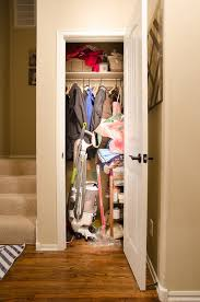 it s been a combo coat catch all closet with the catch all part getting more out of control by the day seriously look at this mess