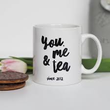 you me and tea mug personalised mug valentine s gift anniversary gift
