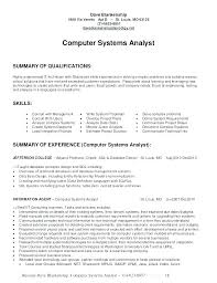 System Analyst Resume Business Analyst Resume Examples Sample