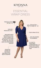 Kiyonna Dress Size Chart Essential Wrap Dress