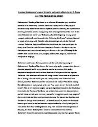analyse shakespeare s use of dramatic and poetic effects in act   taming of the shrew page 1 zoom in