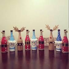 BottlesChristmasPlansjpg 570×760 Píxeles  Botellas Decoradas Wine Bottle Christmas Crafts