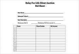 Bid Sheet For Silent Auction Printable Resume Template 2019 Silent Auction Bid Sheet Template Resume