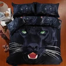 3d black panther bedding set super king size queen fitted cotton bed sheets quilt duvet cover double bedspread animal print quilt duvet cover cotton duvet