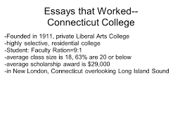 today s objective analyze effective essay organization and  2 essays that worked connecticut college