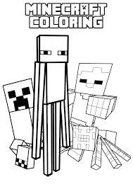 Minecraft Coloring Pages For Kids For Coloring Pages Printable