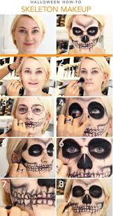 skeleton make up tutorial